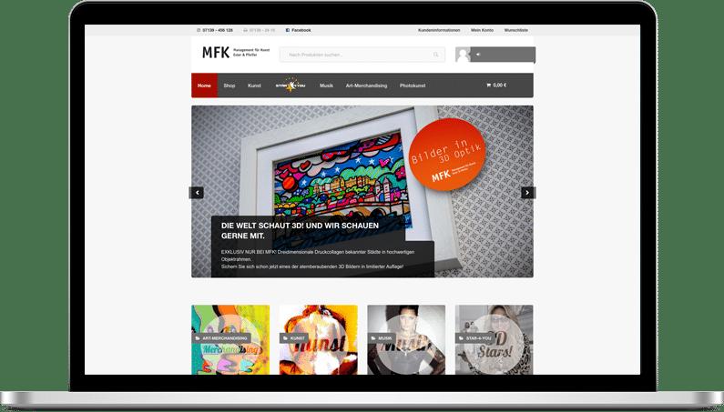 MacBook Pro mit Shopwebseite