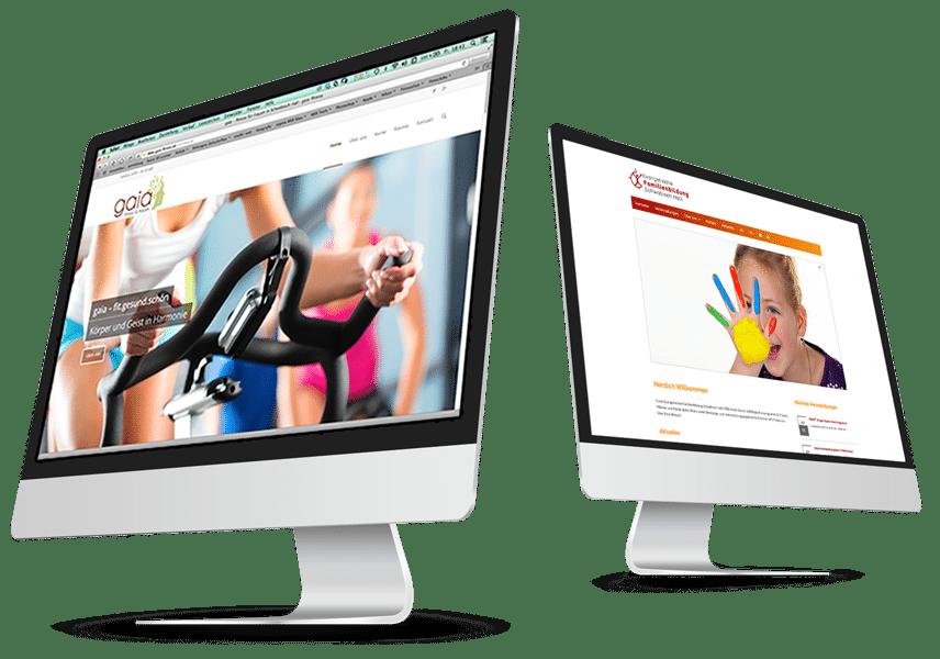 Webseite auf einem iMac