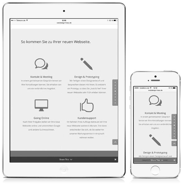 iPad und iPhone mit responsiver Webseite