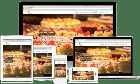 Webseite auf unterschiedlichen Endgeräten
