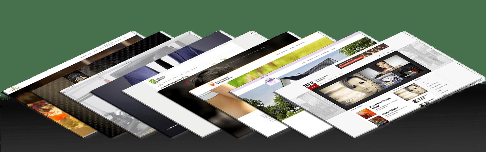 Auswahl erstellter Webseiten