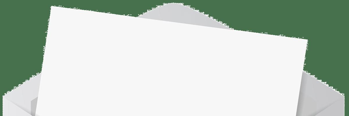 Brief mit Briefkuvert