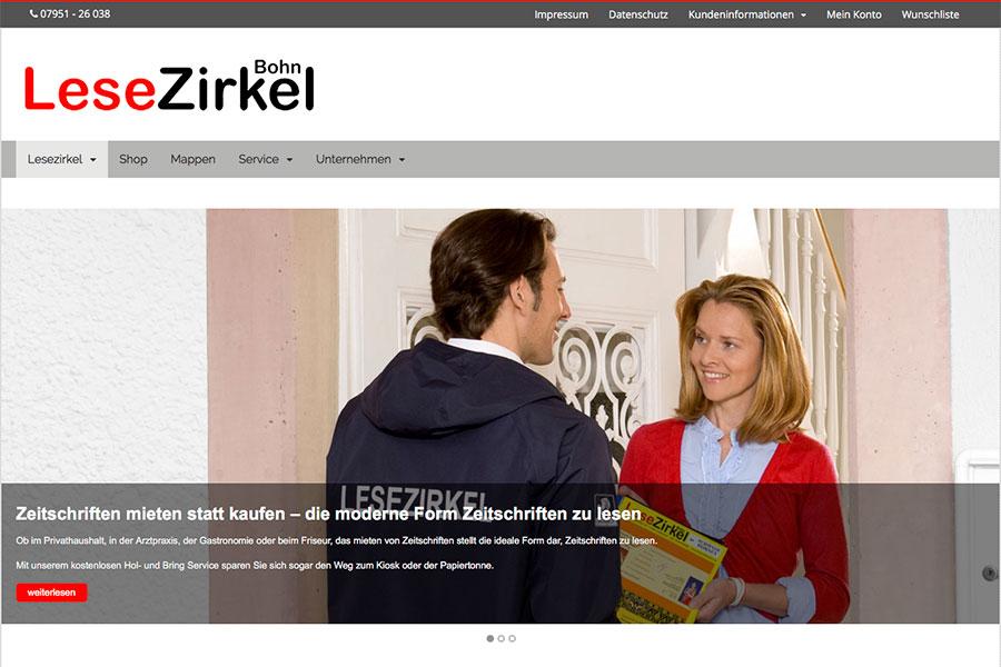 Lesezirkel Bohn – neue Webseite mit Shop jetzt online