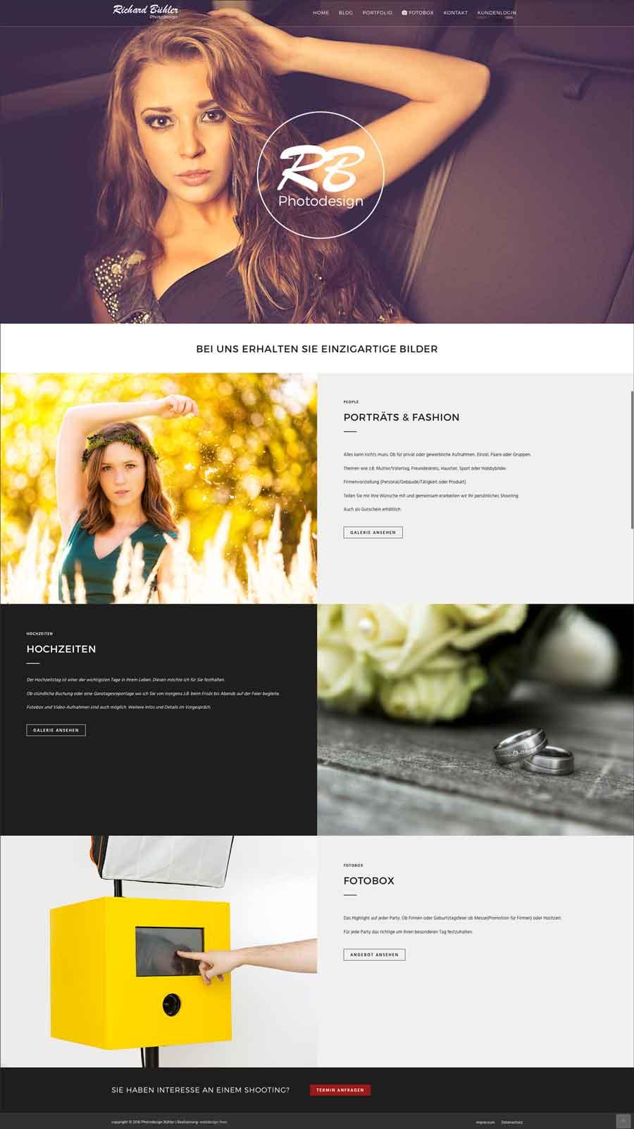 Webseite Photodesign-Buehler.de