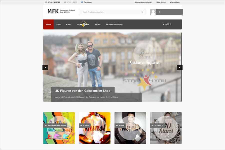 MFK-SHOP – Kunst, Musik und exklusive 3D – Sammlerfiguren