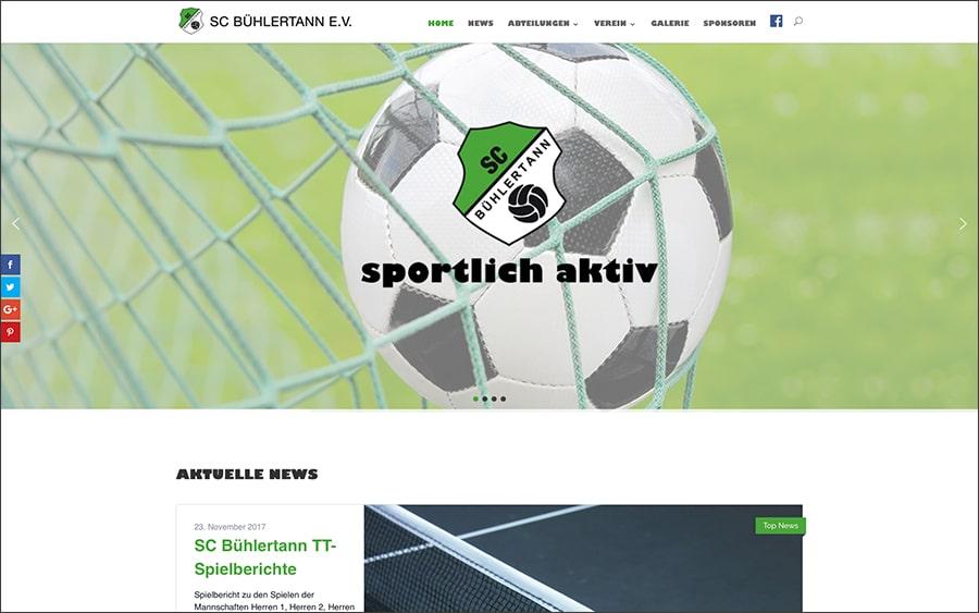 Webseite des SC Bühlertann