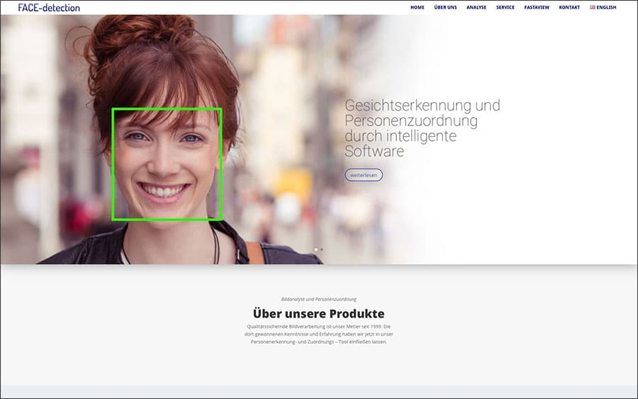 Face-detection Webseite